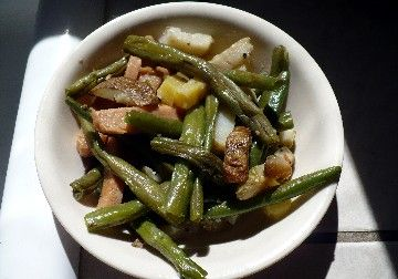 Turkey Spam, Green Bean & Potato Skillet