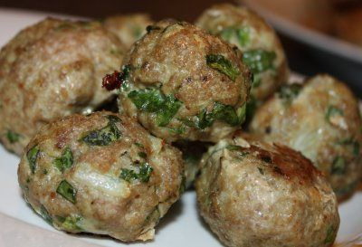 Oatmeal Meatballs with Spinach