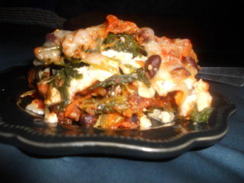 Black bean Vegi Lasagna