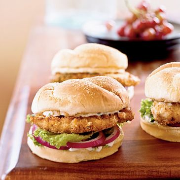 Spicy Chicken Sandwiches with Cilantro-Lime Mayo (Cooking Light)