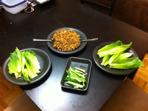 Thai Chicken Peanut Lettuce Wraps