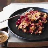 Cranberry, Apple and Raisin Crisp