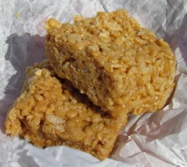 Nixie's Crunchy Peanut Butter Rice Krispies Treats!
