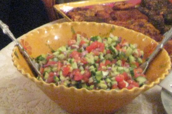 Summer Tomato Salad (Shirazi - Persian Salad)