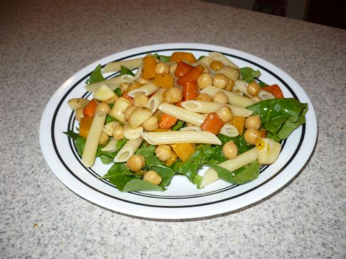 Roasted Chickpea Pasta Salad
