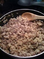 Spicy Hamburger and Rice