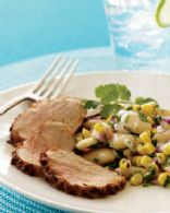 Cumin-Crusted Pork Tenderloin With Bean and Corn Salad