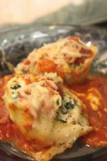Cheese and Chicken stuffed shells