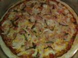 Keto Ham and Cheese Pizza