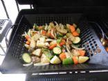 grilled potato veggie mix