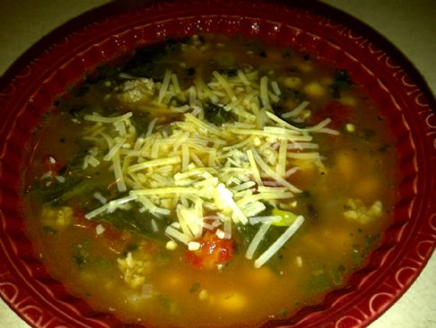 Sausage White Bean & Kale (or Spinach) Soup