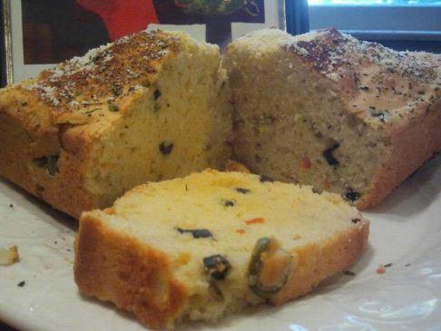 Garlic & olive bread