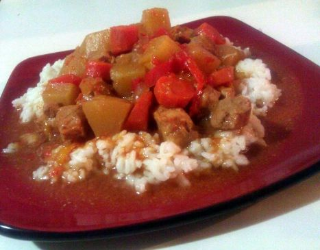 Sweet and Sour Crockpot Pork Tenderloin