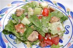Chef Meg's Whole Grain Panzanella (Bread and Tomato Salad)