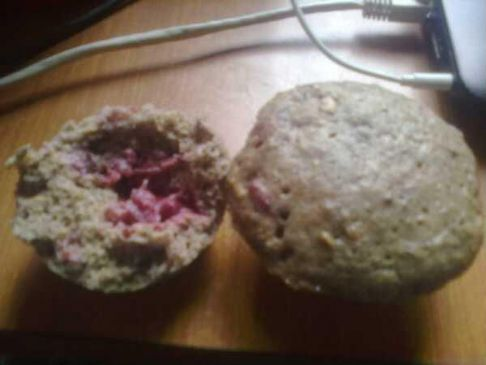 Sour cherry microwave muffins