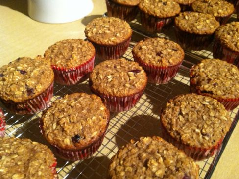Chocolate Chip Almond Butter Oatmeal Muffins