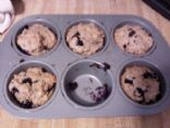 Lori's Sugar Free whole wheat Blueberry Muffins