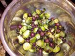Roasted Brussel Sprouts with Roasted Red Grapes