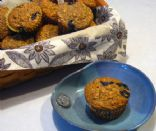 Wheat & Oatmeal Blueberry Muffins