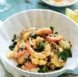 Prawns with Roasted Cauliflower