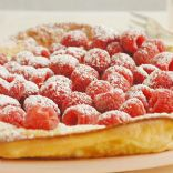 Oven Puffed Pancakes With Fresh Raspberries