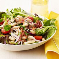 Bean & Cherry Tomato Spinach Salad