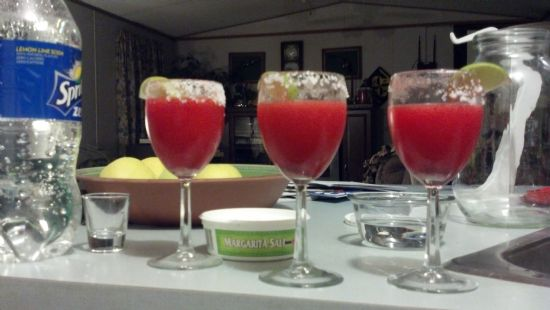 Sparkling Strawberry Margaritas