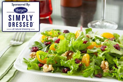 Simply Dressed� Mixed Greens with Manchego Cheese and Pomegranate Dressing