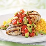 Cilantro-Lime Chicken w/Avocado Salsa