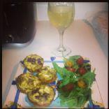 Pesto, Goat Cheese & Sun-dried Tomatoes Quiche