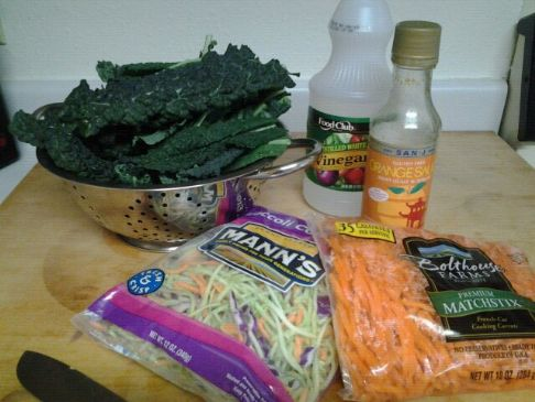 Tri Color Kale Salad w/Asian Orange Dressing