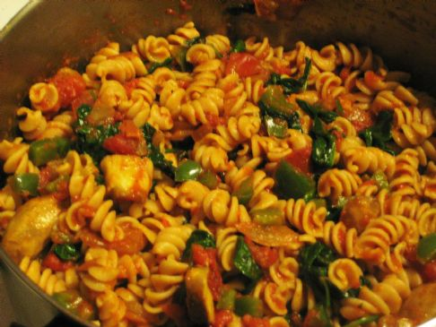 Vegetable Whole Wheat Pasta