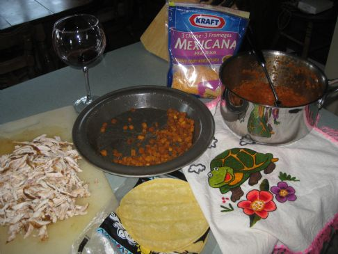 DELICIOUS sweet potato and chicken enchiladas