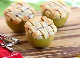 Apple Lattice Pie Baked in an Apple