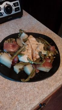 Chicken, Potatoes and Asparagus