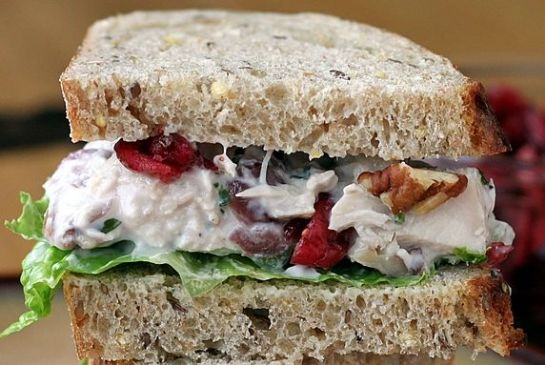 Cranberry pistachio chicken salad