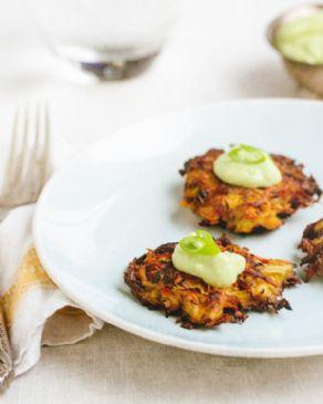 Kohlrabi Carrot Fritters