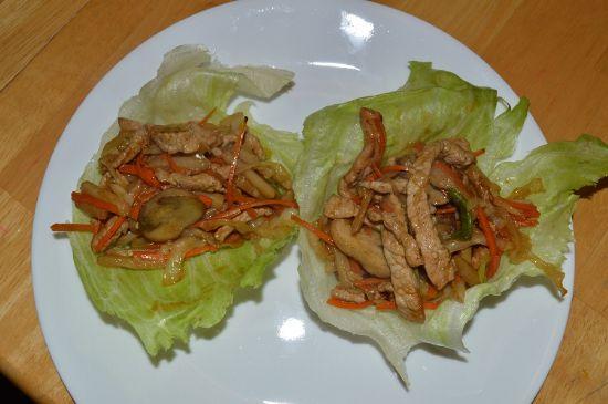 MuShu Pork Lettuce Wraps