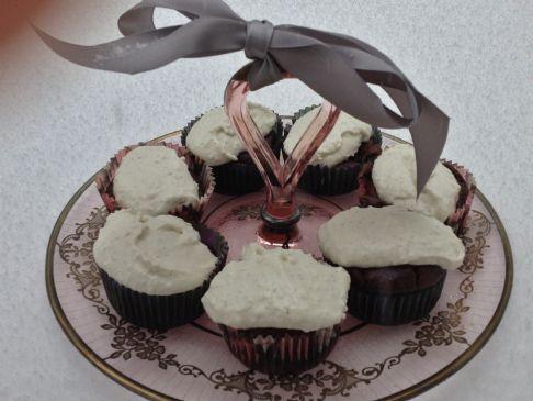 gluten free sugar free choc mayo cupcakes