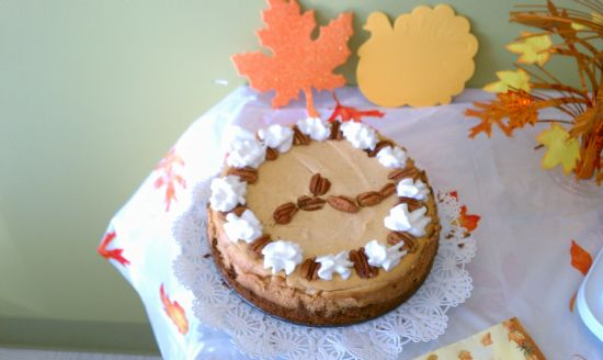Pumpkin Cheesecake (low fat, sugar free)