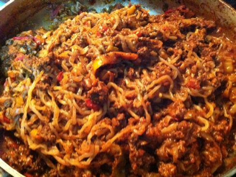 Konjac Spaghetti in Meat Sauce