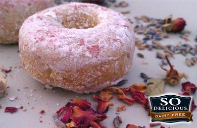 Baked Lavender Rose Donuts