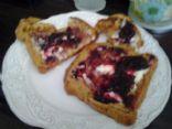 Boysenberry and Mascarpone French Toast