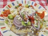 Greek Salad on Pita Bread