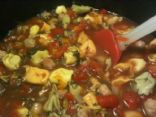 DubDub's Italian Tortellini and Sausage Soup with Spinach