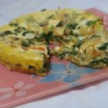 Caramelized onion, mozzarella and chard Rice Cooker Frittata