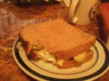 Egg white avacado cheese sandwhich