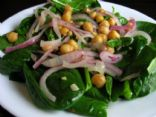 Warm Chickpea Salad with Spinach