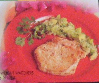 CMR Pork Chops with Tropical Salas