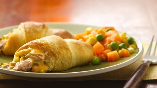 Cheesy Tuna Crescent Rolls Recipe Sparkrecipes